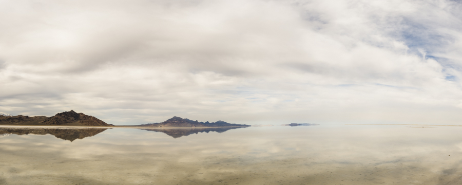 Looking out over the Bonneville Salt Flats, UT