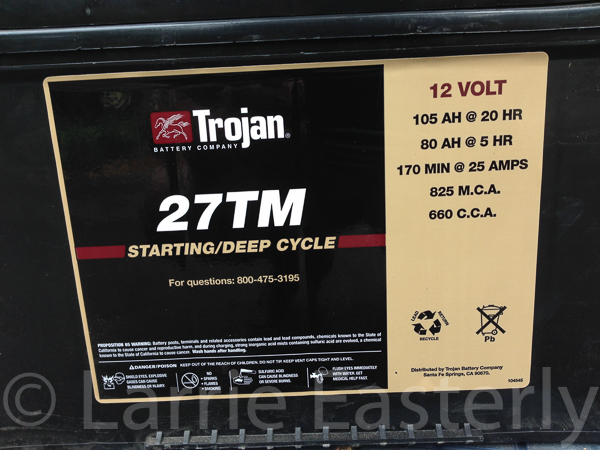 Trojan 27TM battery