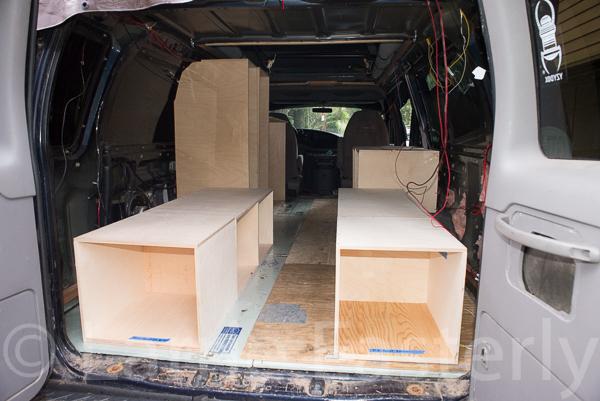 Rear cabinets