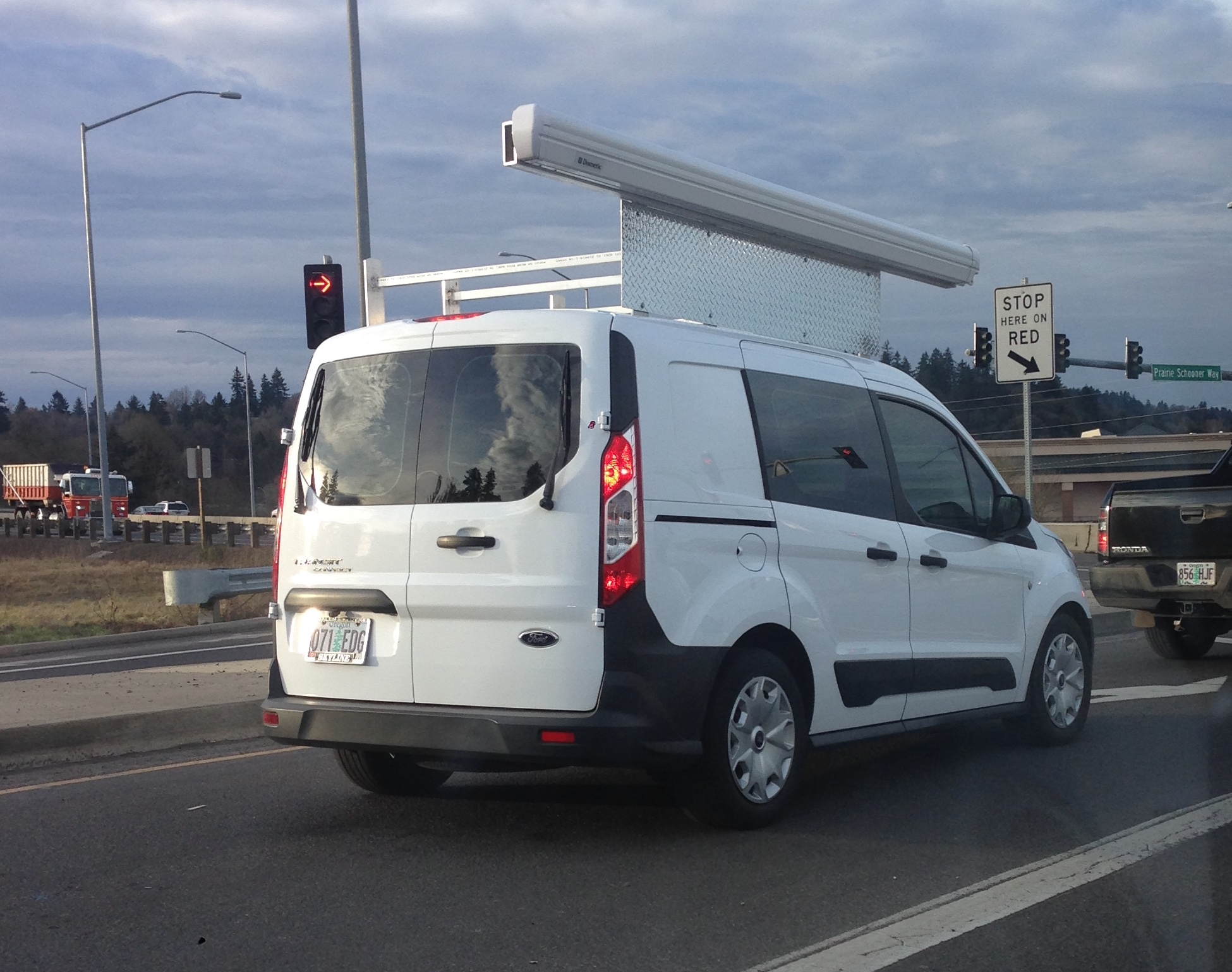 Ford Transit with awning