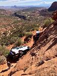 Rolled van in Canyonlands