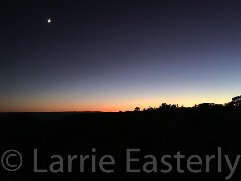 Moon over Kanab Point