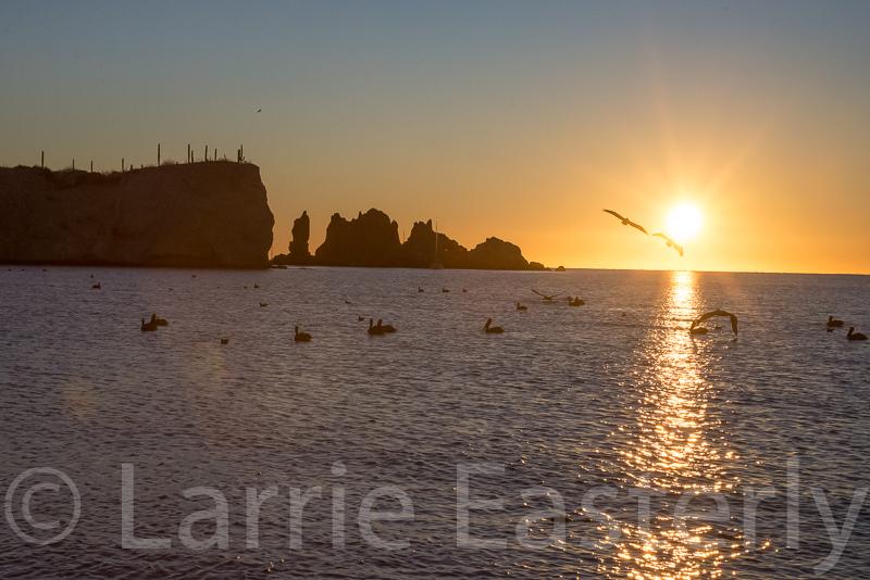 Sunrise near Ensenada San Basilio