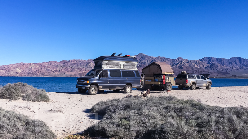 Camped on the beach