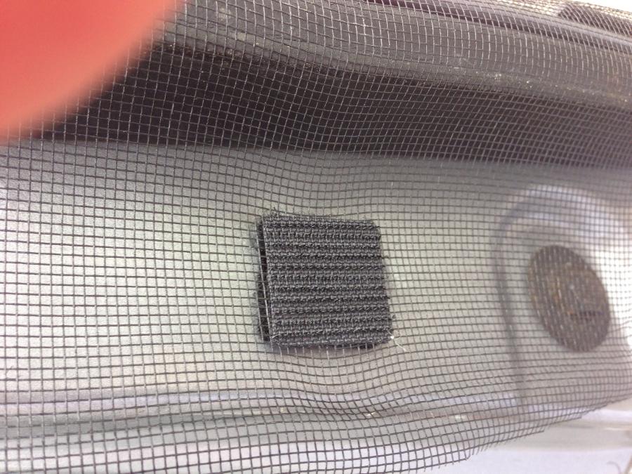Window screen Velcro attachment
