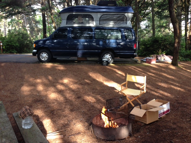 Tillicum USFS campground south of Waldport on the Oregon Coast.