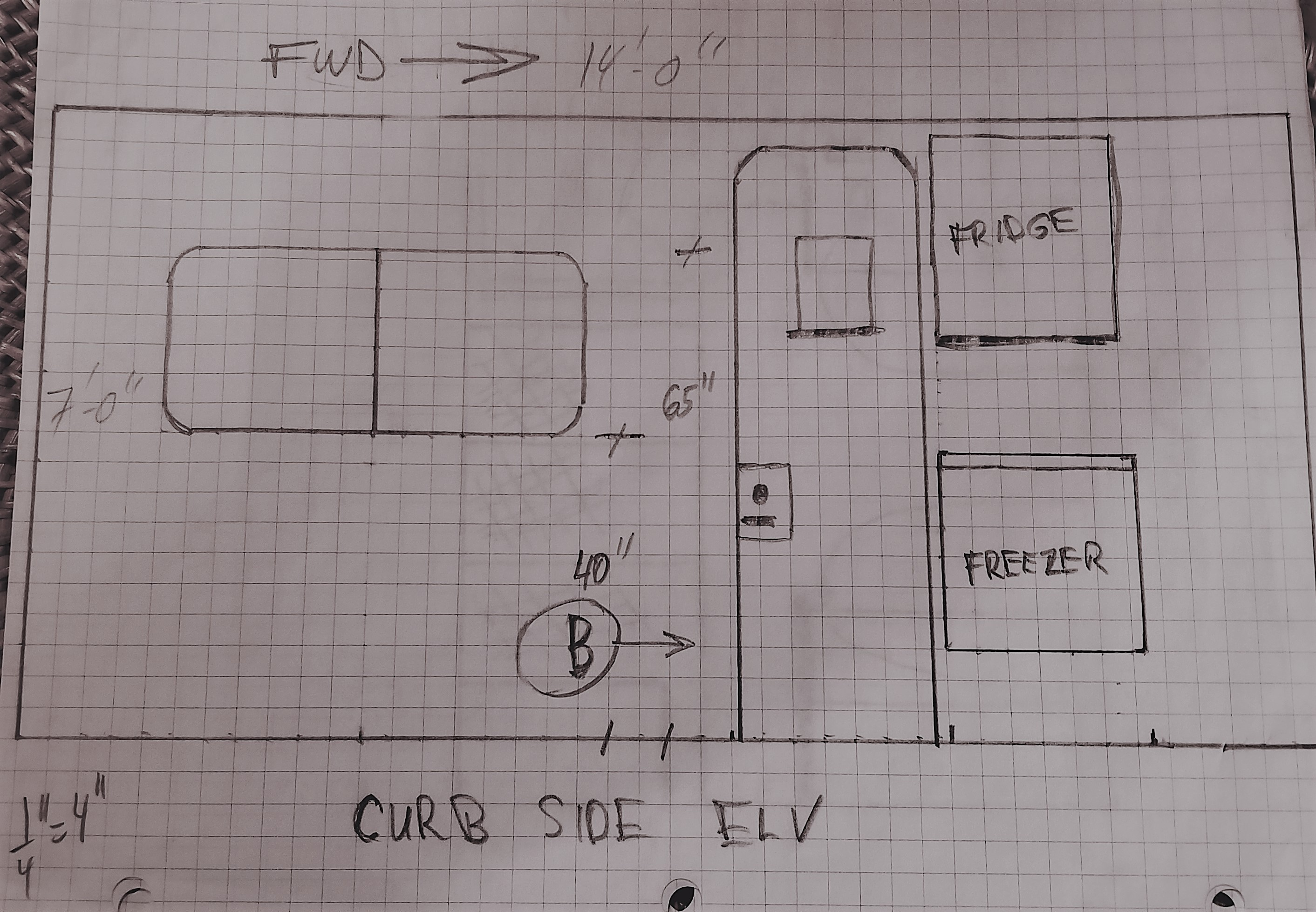 Curb side frg/frzr section