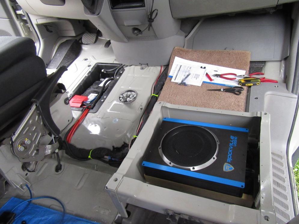 Subwoofer Under The Passenger Seat Sportsmobile Forum