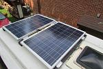 2 100W panels on roof