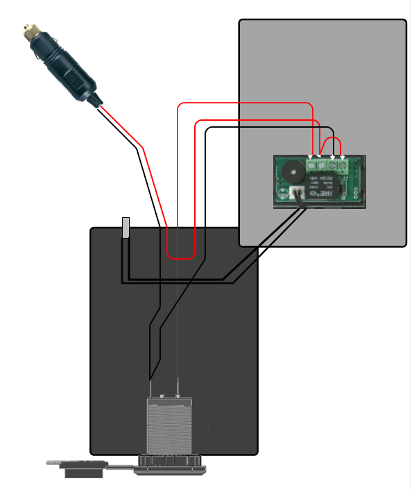 Temp Controlled 12 Volt Outlet=schematic