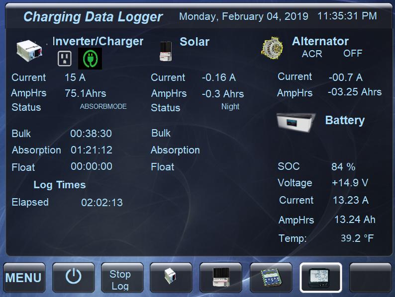 charging datalogger 5 Corrected bad temp
