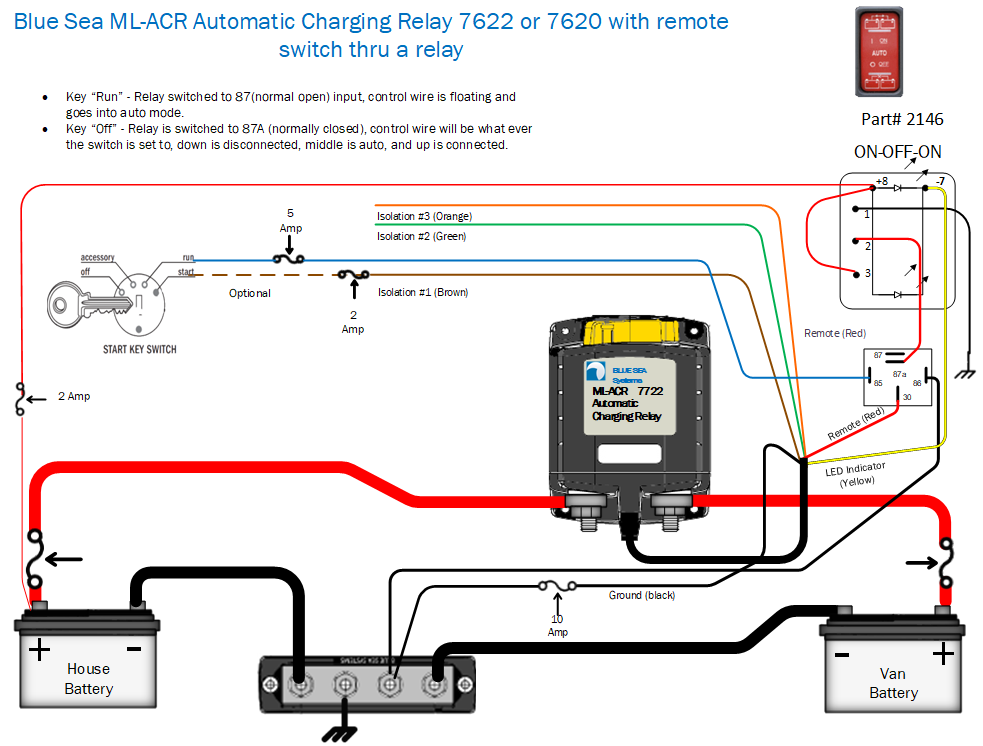 ACR with switch and unidirectional relay
