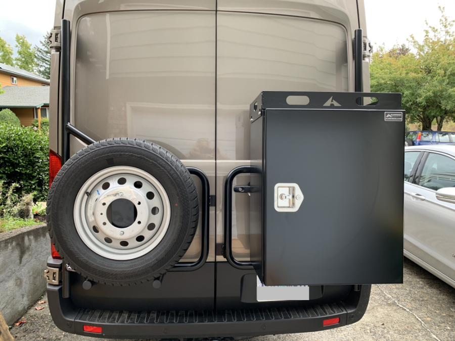Spare Tire and Box