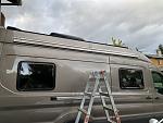 Installing the awning braket