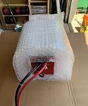 Battery in bubble wrap