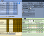 Calculator spread sheet