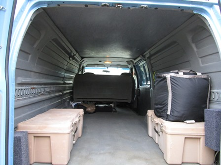 2003 Ford E350 4x4 Van   Cargo Interior Before New Flooring Installed