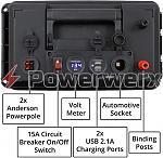 powerwerx pwrbox portable power box for 18 35ah sla or agm batteries  7735 580