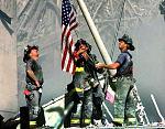 september 11 ground zero flag