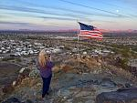 Laura on top of Quartzite Hill  12/31/2017