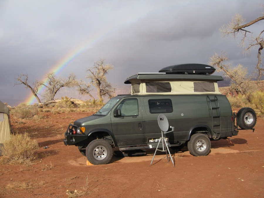 malcolmkegel - rainbow at the dustbowl campground Utah