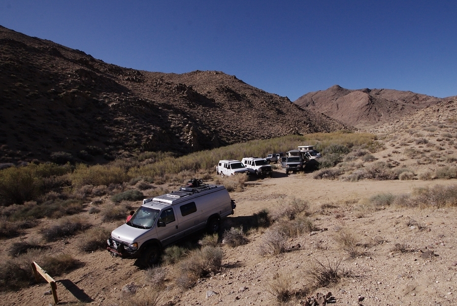 Tapatio - High density campsite in ravine near Butte Valley