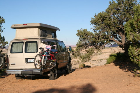 ... the bikes to the other and access the van\u0027s back doors. Below are pictures from the summer trip showing it closed swing away and the depth (length?) ... & Found this swing away for bike racks and hitch cargo - Sportsmobile ...