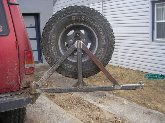 Homemade spare tire carrier for the rear sportsmobile forum publicscrutiny Gallery